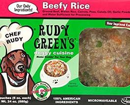 Beefy Rice Frozen Human Grade Dog Food